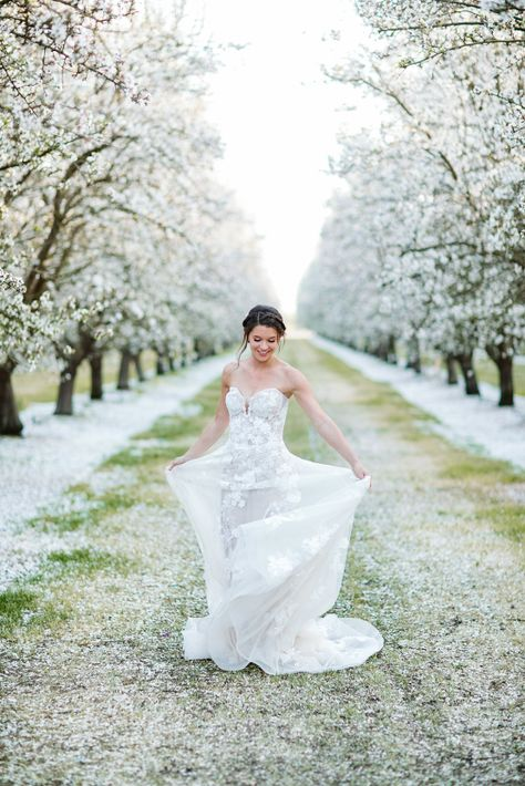 Whimsical Almond Orchard Blossom Wedding Inspiration – Playful Soul Photography 18  Blossoming orchards are the perfect backdrop for a nature-filled outdoor celebration.  #bridalmusings #bmloves #wedding #weddinginspo #weddinginspiration #blossom #orchard #outdoorwedding
