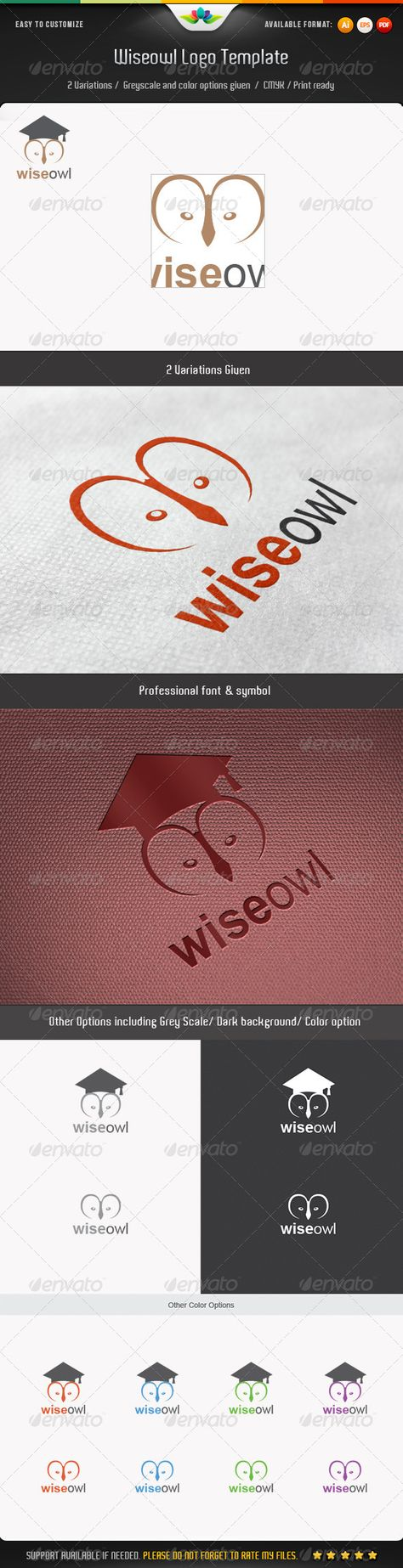 Wiseowl Logo Template