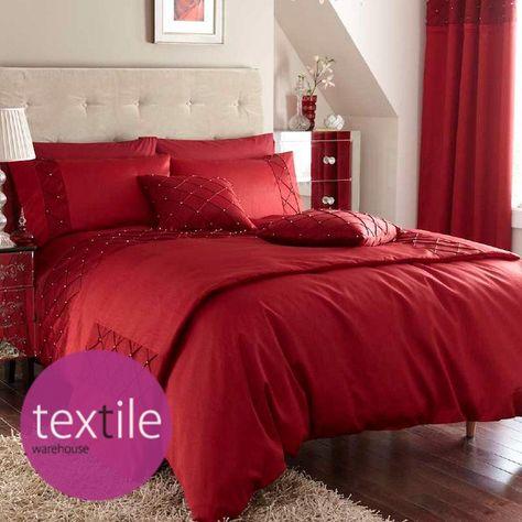 35 Bettwasche Seide Perle Rot Luxus Decke Bezug Catherine