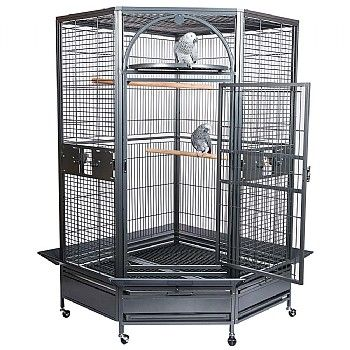 Waimea Wingplex Double Stackable Decker Wrought Iron Bird Flight Parrot Cage 278