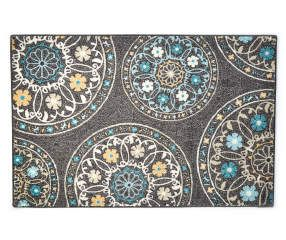 Living Colors Living Colors Gray Medallion Accent Rug Big Lots Accent Rugs Rugs Teal And Grey