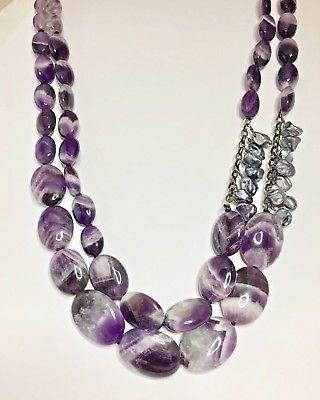 Joe Cool Bracelet Rose Quartz Amethyst Tone Made with Crystal Glass /& Pearl