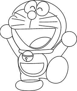 Happy Doraemon 1 Coloring Page Free Coloring Pages Online Coloring Book Download Coloring Books Coloring Pages For Kids