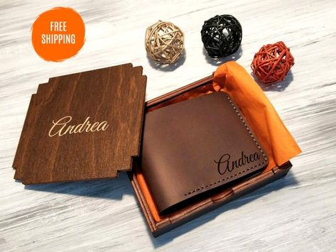 Engraved Leather Men Wallet Personalized Gift for Him Bifold Wallet  Birthday Gift for Him Leather Me 79494ce2e