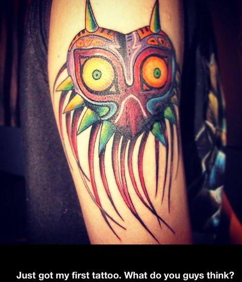 28e3be094 Majoras mask tat.   Tattoos That Inspire Me   Legend of zelda ...