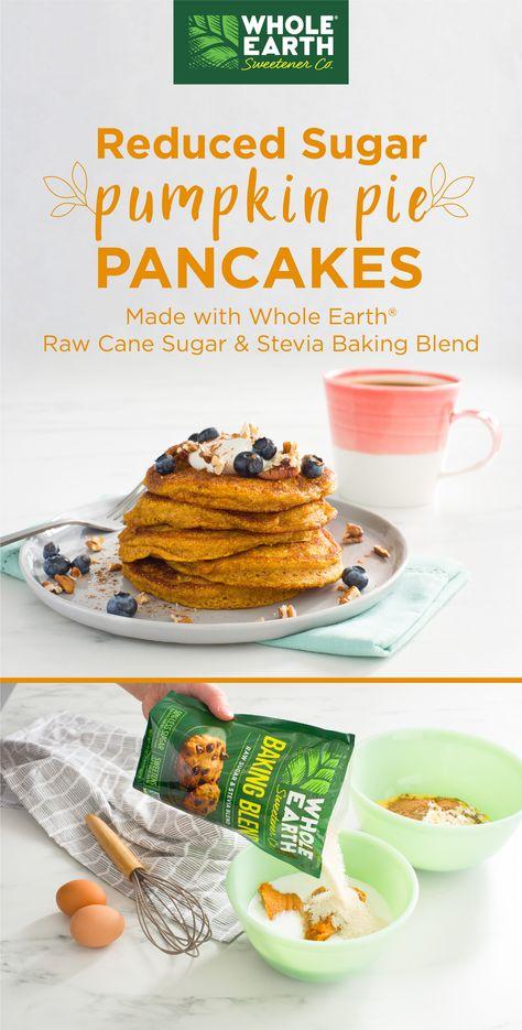 Reduced Sugar* Pumpkin Pie Pancakes