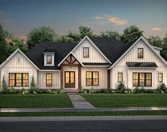 House Plans 4 Bedroom Blueprint Modern House Plans With Blueprint House Blueprints Two Story House Plan Contemporary House Plan In 2021 House Styles Craftsman House House Plans