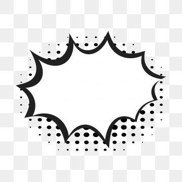 Comic Speech Bubbles On Halftone Transparent Background Png And Vector Halftone Transparent Background Cartoon Bubbles