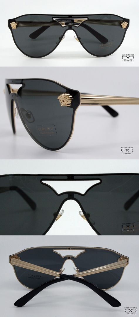 a1601b427a Eyeglass Frames 180957  Versace Ve2161 1002 87 Gold With Dark Gray Aviator  Sunglasses New Authentic 42 -  BUY IT NOW ONLY   145 on eBay!
