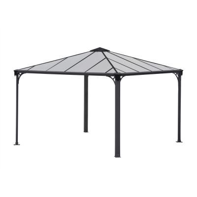 Palram Palermo 3600 12 Ft X 12 Ft Aluminum Frame And Hard Top Gazebo 702780 The Home Depot In 2020 Aluminum Gazebo Gazebo Hardtop Gazebo
