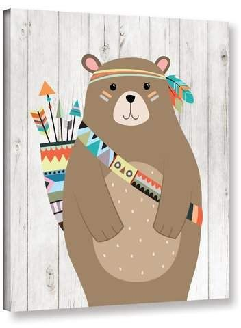 Aida Tribal Bear Ii Canvas Art Tribal Bear Canvas Art Art