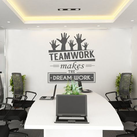 Wall Decorations For Office decorating office walls stunning decor stunning office wall decoration and office Teamwork Makes The Dream Work Teamwork Office Wall Art Corporate Office Supplies