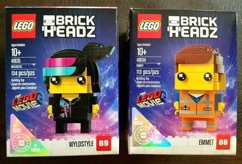 Lego41634Emmet Brickheadz and41635 Wyldstyle Limited Edition Lego Movie 2