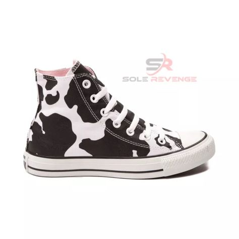 ee42eb6aa499 New Converse COW PRINT Black White Chuck Taylor All Star Hi Shoes Sneaker  Animal