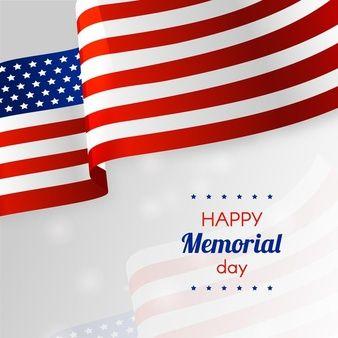Download Realistic Happy Memorial Day American Flag For Free Happy Memorial Day Memorial Day Pet Logo Design