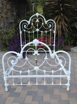 Image Gallery For Antique Heart Shaped Victorian Iron Brass Bed Americanlisted Com Iron Headboard Iron Bed Frame Antique Iron Beds