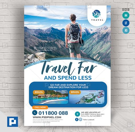 Travel and Explore Services Flyer - PSDPixel