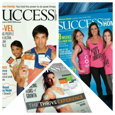 Le-Vel and The Thrive Experience featured in Success From Home Magazine for the 3rd time!
