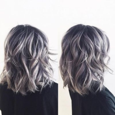 Ash Gray Highlights Dark Brown Ash Blonde Hair Colour Dark