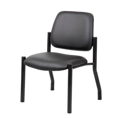 300lbs Weight Capacity Guest Chair Antimicrobial Black Boss