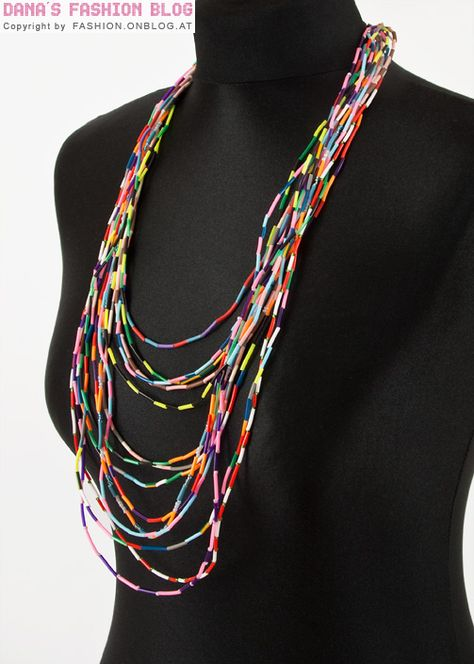 DIY Colorful Statement Necklace