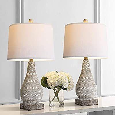 Amazon Com Bobomomo Retro 24 8 Table Lamp Set Of 2 For Bedroom Living Room Traditional Nightstand Lamps With Whit Farmhouse Table Lamps Table Lamp Sets Lamp