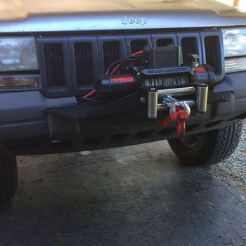 Jeep Winch Mounting Plate 93 98 Grand Cherokee Zj Jeep Winch