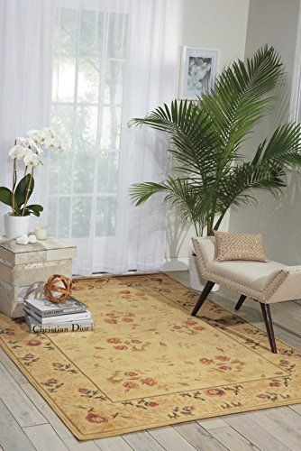 Nourison Somerset St05 Ivory Rectangle, 10 Foot Round Rug