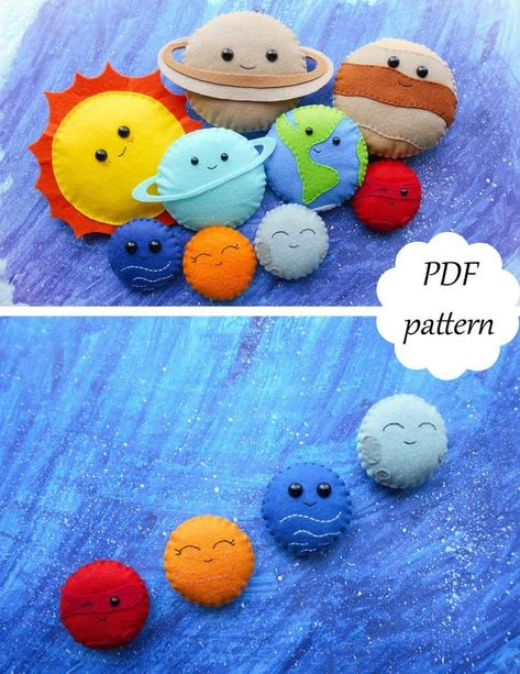 PDF pattern for women PDF planets PDF solar system Felt planets Learning Solar system