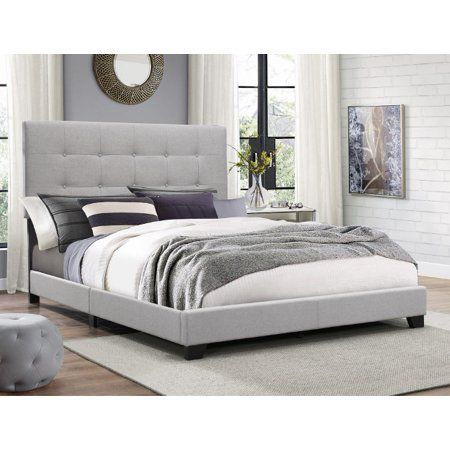 Rustic Bedroom Ideas In 2020 Grey Upholstered Bed Upholstered Panel Bed Panel Bed