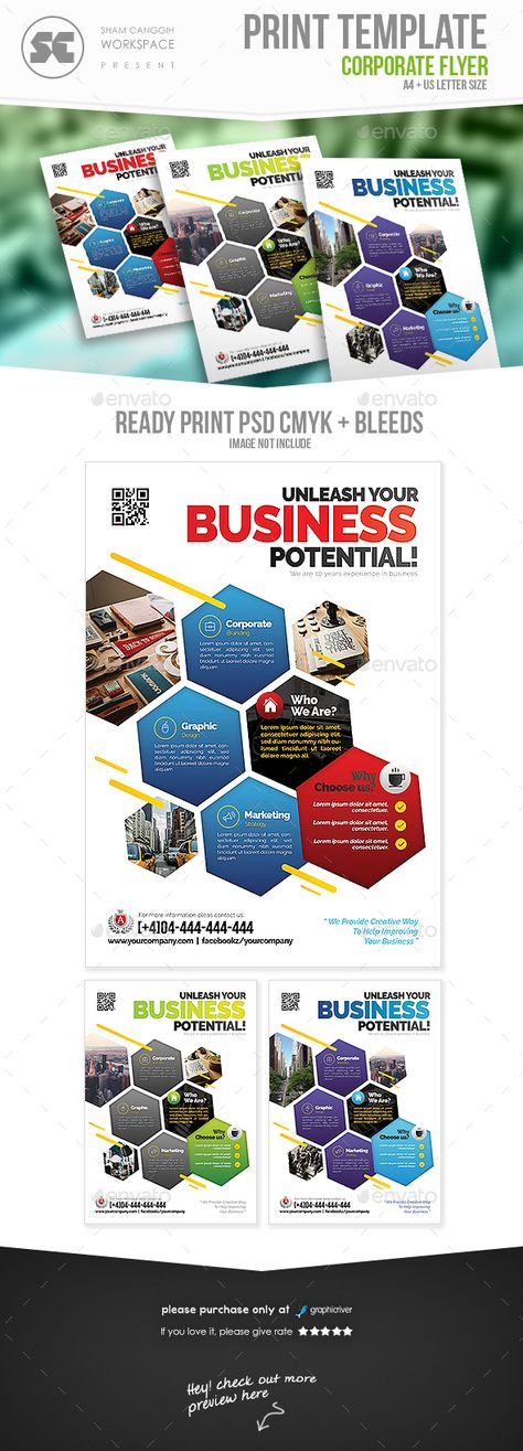 business flyer with personal photo
