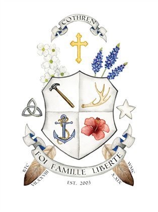 Like the feel and colours  | Family crest ideas | Smith