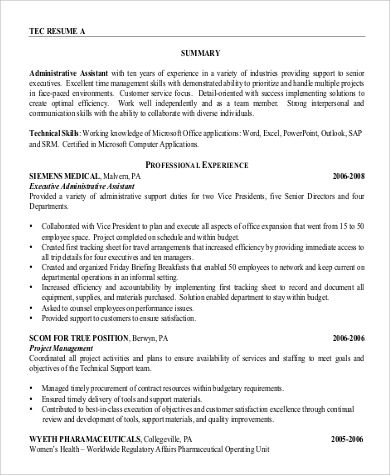 Sample Professional Summary Resume 8 Examples In Pdf Di 2020