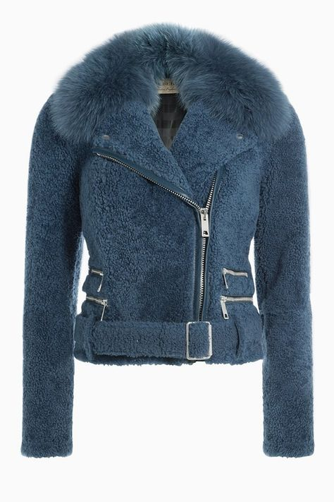 Shearling Biker Jacket with Fox Fur detail 0 Source by norcalali Fur Fashion, Winter Fashion, Rock Fashion, Cute Jackets, Jackets For Women, Cold Weather Jackets, Elisa Cavaletti, Riders Jacket, Burberry Jacket
