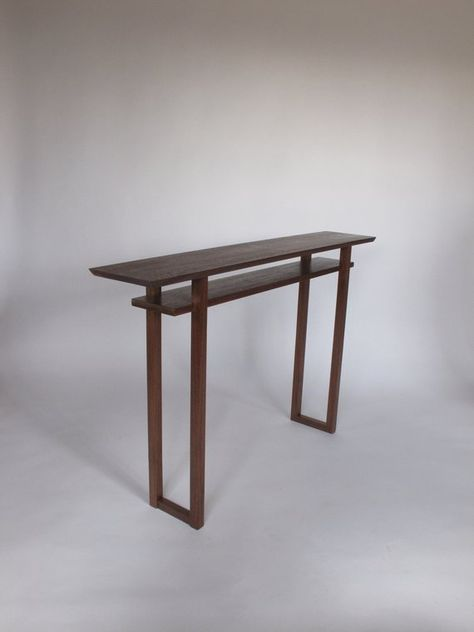 Classic Console Table Narrow Wood Table For Hall Entryway Decor