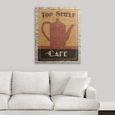 Great Big Canvas Top Shelf Cafe Avery Tillmon Painting Print Format Canvas Size 36 H X 29 W X 1 5 D In 2020 Canvas Big Canvas Painting Prints