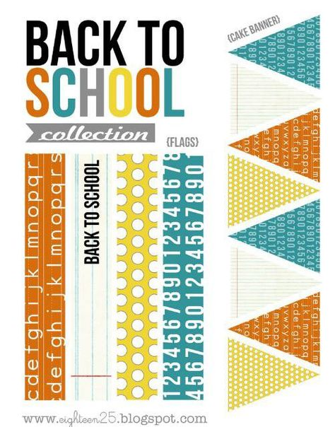 Modern Back To School Party Free Printables