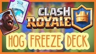 Clash Royale Strategy Tips Best Hog Freeze Deck For Arena 6 4000 Subscribers Clash Royale Deck Arena