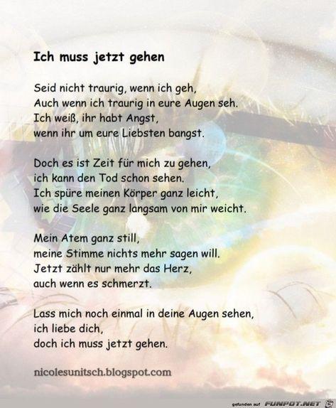 Traurig nachdenken gedicht zum Gedichte zum