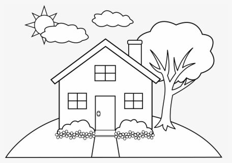 Coloring Pictures Of Homes
