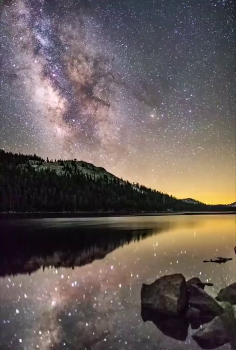 The Milky Way over Yosemite National Park.