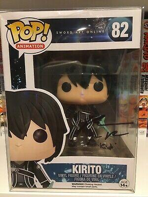 Funko Pop Kirito Sword Art Online Signed Bryce Papenbrook Autograph Funkopop Funko Christmas Sword Art Online Sword Art Online Kirito Kirito