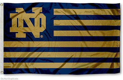 Notre Dame Nation Banner Flag in Sports Mem, Cards & Fan Shop, Home & Garden