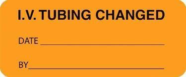 Iv Tubing Change Labels Orange 1000 Roll Medical Equipment Storage Medical Supplies Health Department