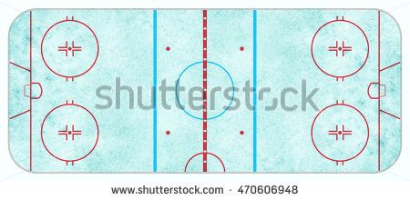 An Aerial View Of A Blue Textured Ice Hockey Rink With Regulation Lines Aerial View Aerial Stock Illustration