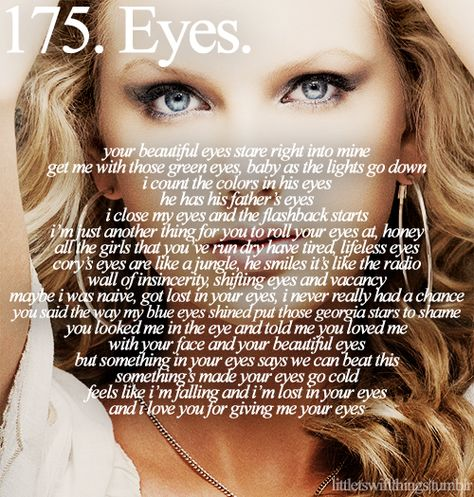 Beautiful Eyes . Sparks Fly . I'd Lie . Love Story . Better Than Revenge . Dear John . Stay Beautiful . Enchanted . White Horse . Tim McGraw . Forever & Always . The Other Side of the Door . Change . Haunted . Crazier . The Best Day