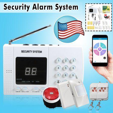 Wireless Smoke Burglar Alarm System Home Security 433mhz Lcd