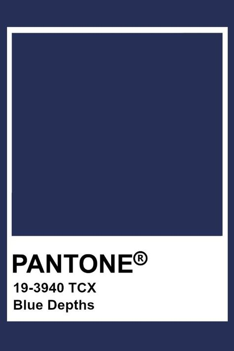 Pantone Blue Depths  #depths #pantone
