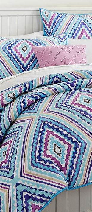 Kaleidoscope Bedding #girls #bedrooms
