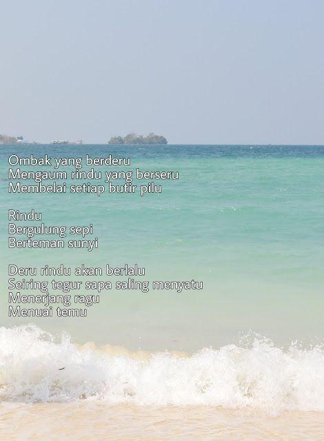 a poem a night deru rindu poems beach outdoor